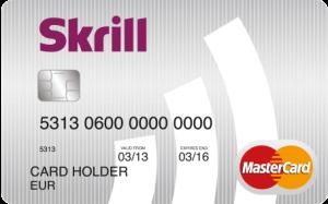prepaid Skrill Mastercard